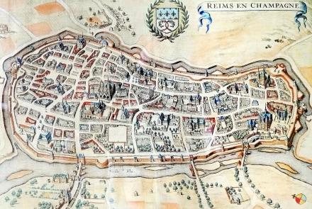 Mapa de Reims à época do nascimento de La Salle